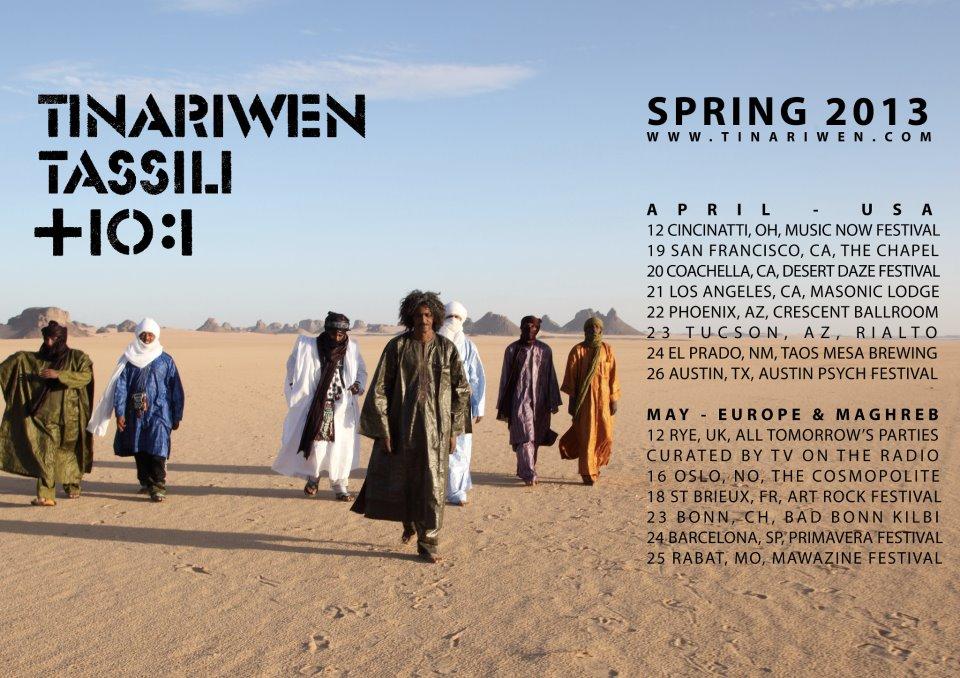 Tinariwen Spring 2013 Tour Dates