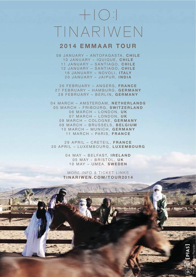 Tinarewin Tour Dates 2014